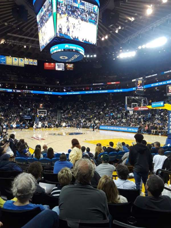 Oracle Arena, Abschnitt: 110, Reihe: 1, Platz: 3