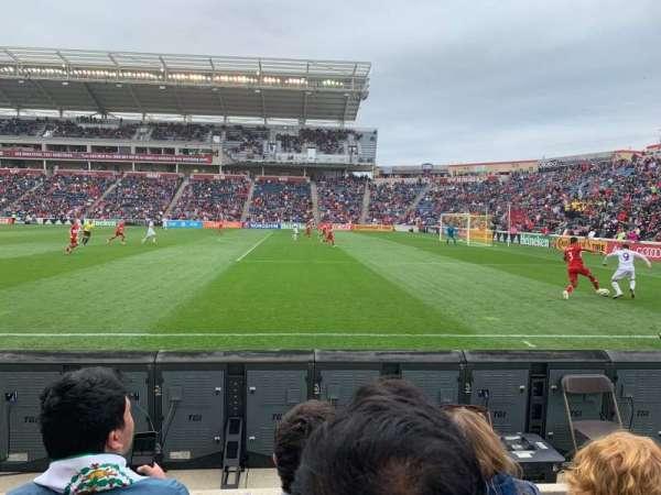 SeatGeek Stadium, Abschnitt: 103, Reihe: 3, Platz: 2