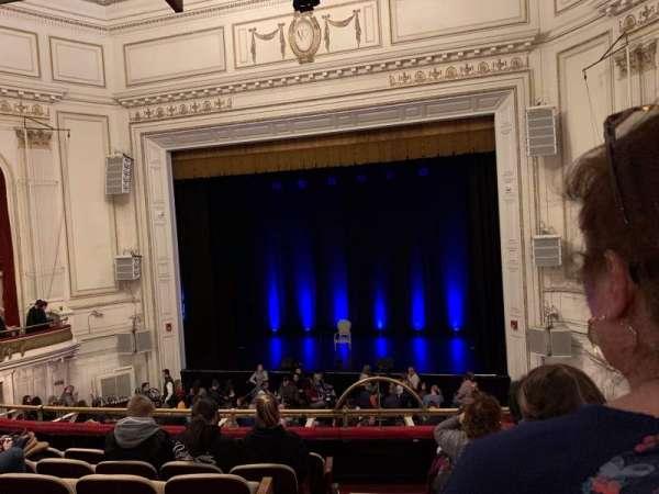 Wilbur Theatre, Bereich: Mezzanine, Reihe: G, Platz: 2