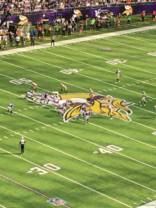 U.S. Bank Stadium, Abschnitt: 315, Reihe: B, Platz: 5
