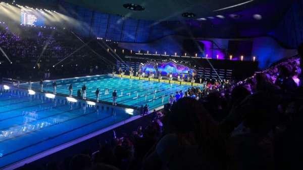 London Aquatics Centre, Abschnitt: F, Reihe: 8, Platz: 163