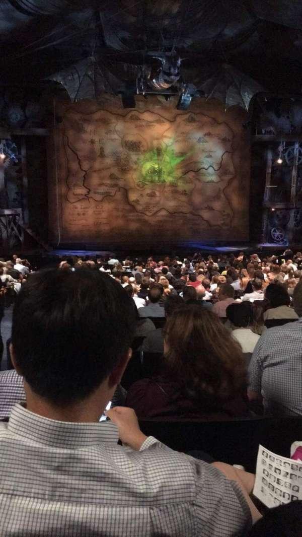 Gershwin Theatre, Abschnitt: Center Orch, Reihe: U, Platz: 101