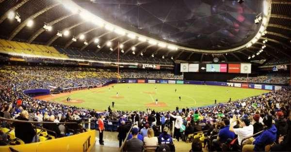 Olympic Stadium, Montreal, Abschnitt: 109, Reihe: M, Platz: 11