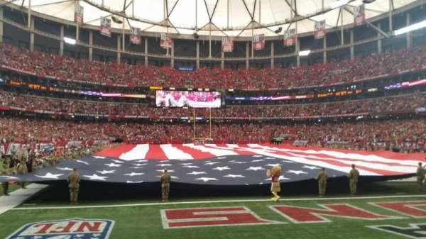 Georgia Dome, Abschnitt: 127, Reihe: 1, Platz: 2