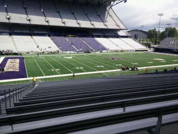 Husky Stadium, Abschnitt: 109, Reihe: 40, Platz: 25