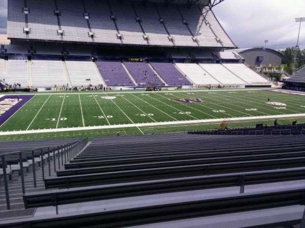 Husky Stadium, Abschnitt: 108, Reihe: 40, Platz: 25
