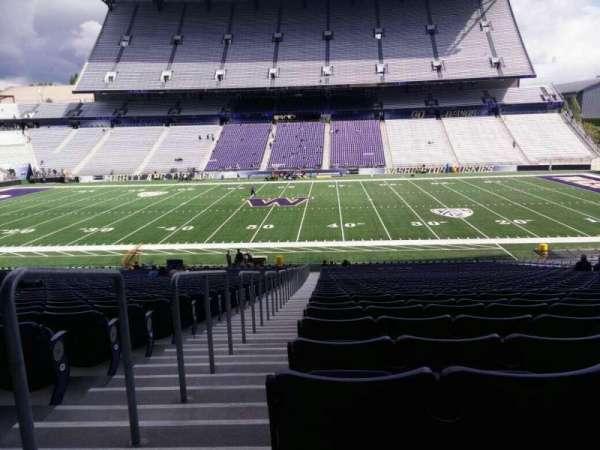 Husky Stadium, Abschnitt: 105, Reihe: 40, Platz: 25