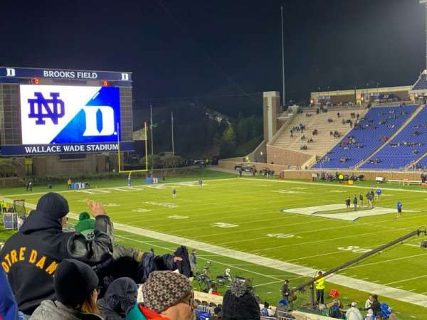 Wallace Wade Stadium, Abschnitt: 110, Reihe: AA, Platz: 1