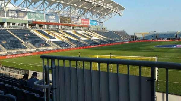 Talen Energy Stadium, Abschnitt: 116, Reihe: K, Platz: 20