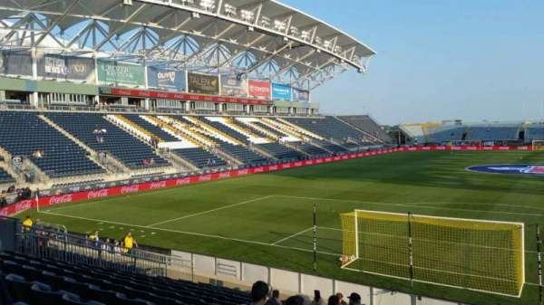 Talen Energy Stadium, Abschnitt: 117, Reihe: K, Platz: 1