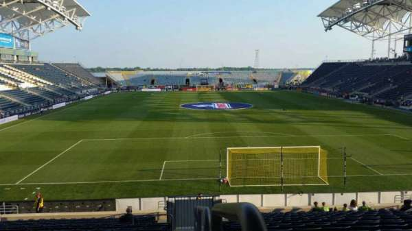 Talen Energy Stadium, Abschnitt: 118, Reihe: W, Platz: 1