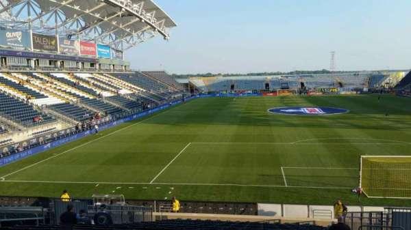 Talen Energy Stadium, Abschnitt: 118, Reihe: W, Platz: 10