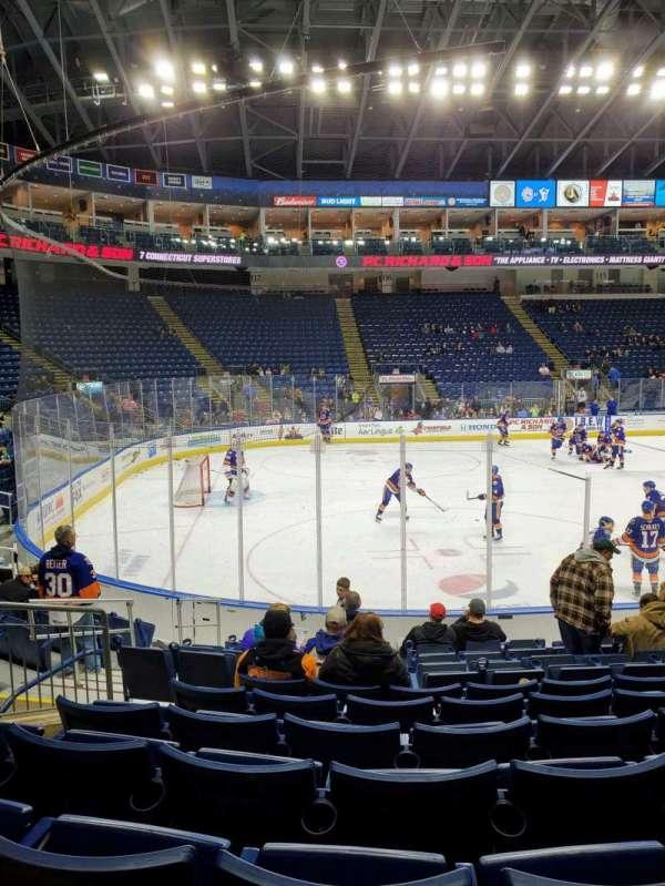 Webster Bank Arena, Abschnitt: 103, Reihe: G, Platz: 9