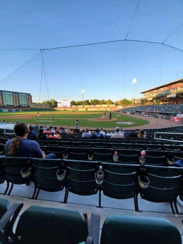 Northeast Delta Dental Stadium, Bereich: 107, Reihe: M, Platz: 8