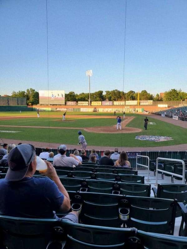 Northeast Delta Dental Stadium, Bereich: 107, Reihe: M, Platz: 3