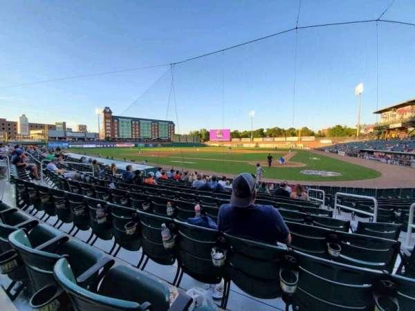 Northeast Delta Dental Stadium, Bereich: 107, Reihe: M, Platz: 4