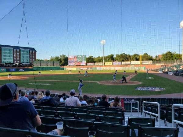 Northeast Delta Dental Stadium, Bereich: 107, Reihe: M, Platz: 2