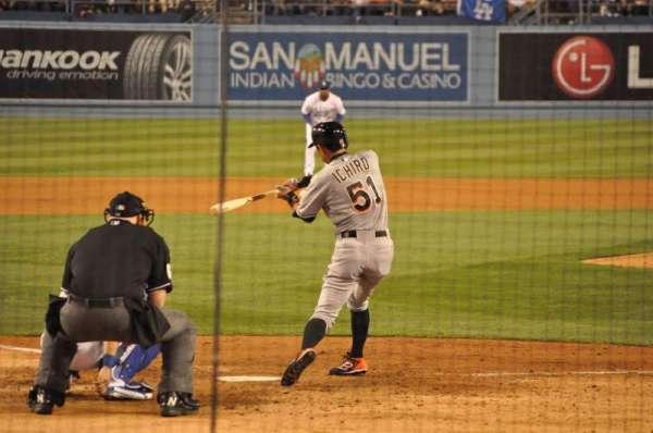 Dodger Stadium, Abschnitt: 4FD, Reihe: D, Platz: 9