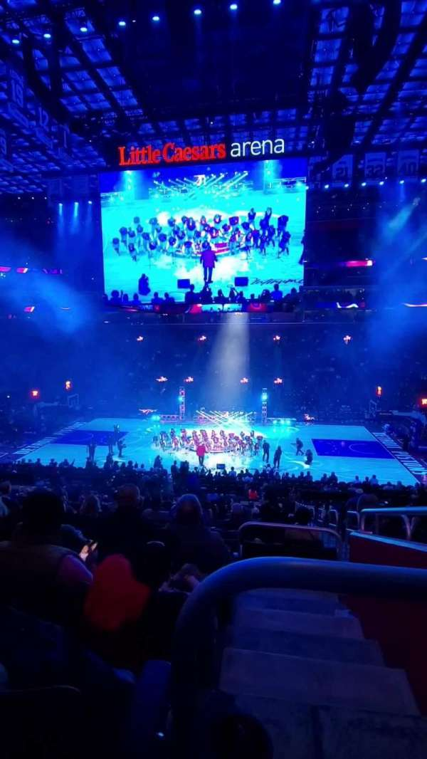 Little Caesars Arena, Abschnitt: 109, Reihe: 22, Platz: 2
