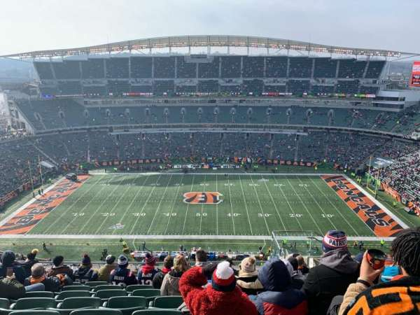 Paul Brown Stadium, Abschnitt: 340, Reihe: 23, Platz: 6