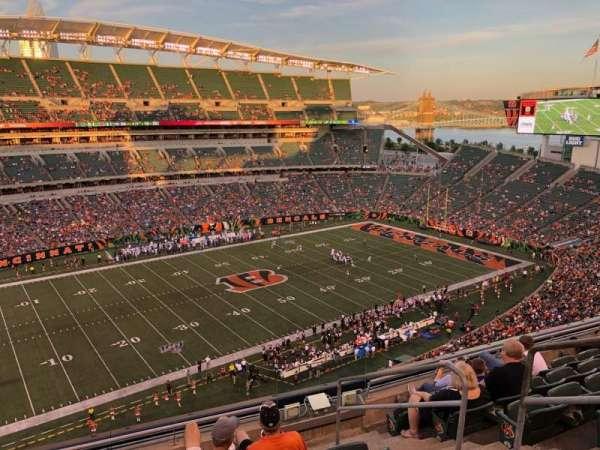Paul Brown Stadium, Abschnitt: 314, Reihe: 7, Platz: 1