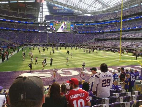 U.S. Bank Stadium, Abschnitt: 143, Reihe: 10, Platz: 10