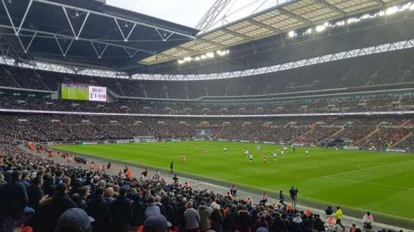 Wembley Stadium, Abschnitt: 116, Reihe: 42, Platz: 123