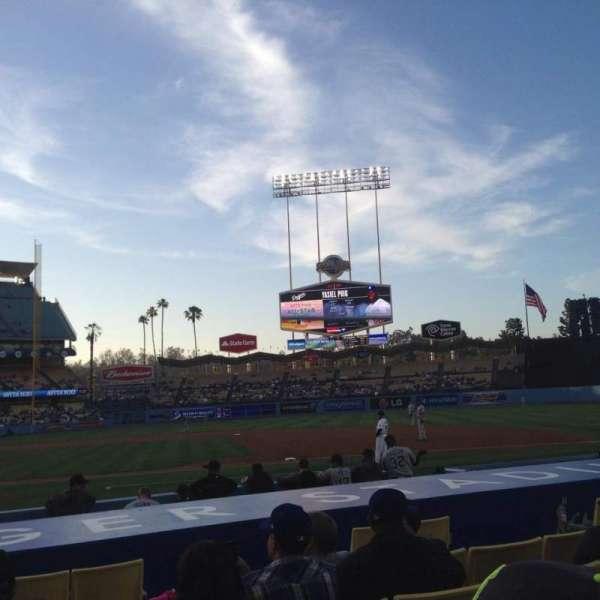 Dodger Stadium, Abschnitt: 20FD, Reihe: B, Platz: 1