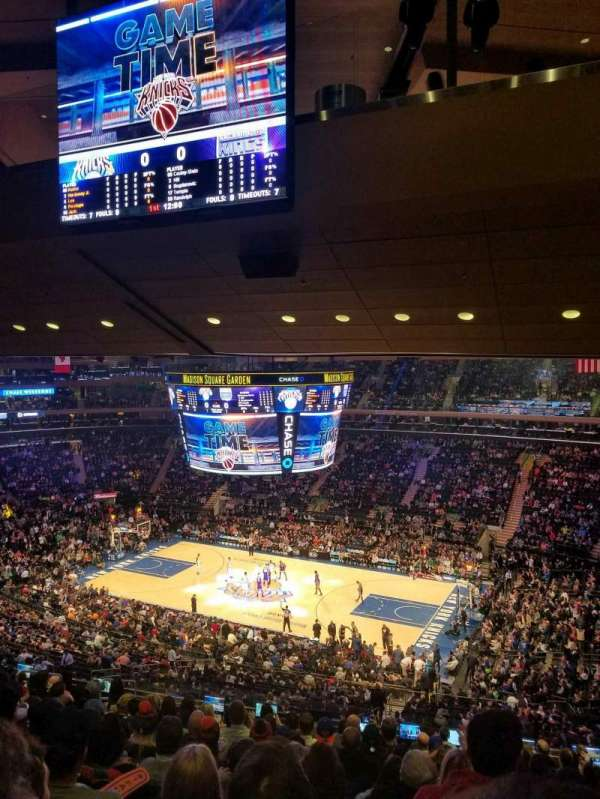This Seat Is Near Home Team Bench Im Madison Square Garden
