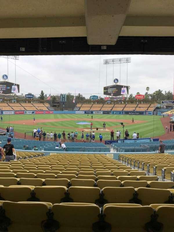 Dodger Stadium, Abschnitt: 3FD, Reihe: W, Platz: 4