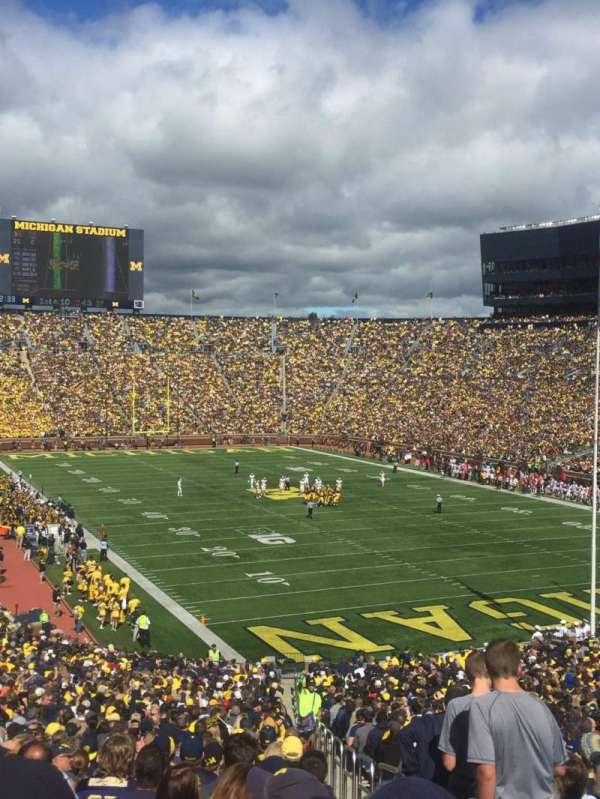 Michigan Stadium, Abschnitt: 15, Reihe: 59, Platz: 15