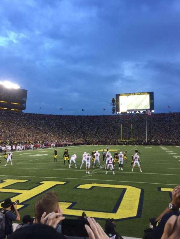Michigan Stadium, Abschnitt: 33, Reihe: 1, Platz: 9