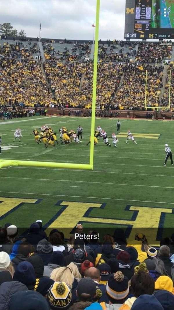 Michigan Stadium, Abschnitt: 12, Reihe: 16, Platz: 24