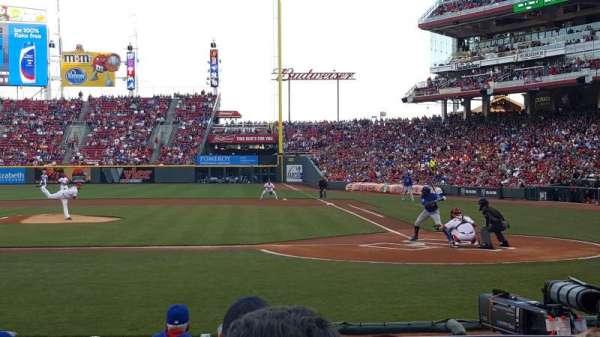 Great American Ball Park, Abschnitt: 119A, Reihe: J, Platz: 1