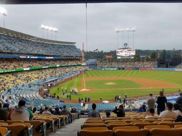 Dodger Stadium , Abschnitt: 120LG, Reihe: R, Platz: 1