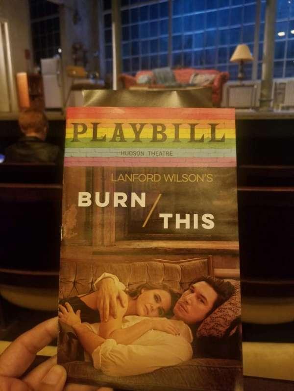 Hudson Theatre, Abschnitt: Orchestra, Reihe: E, Platz: 110