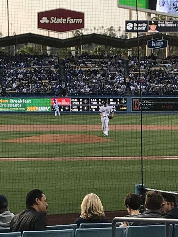 Dodger Stadium, Abschnitt: 12FD, Reihe: B, Platz: 1