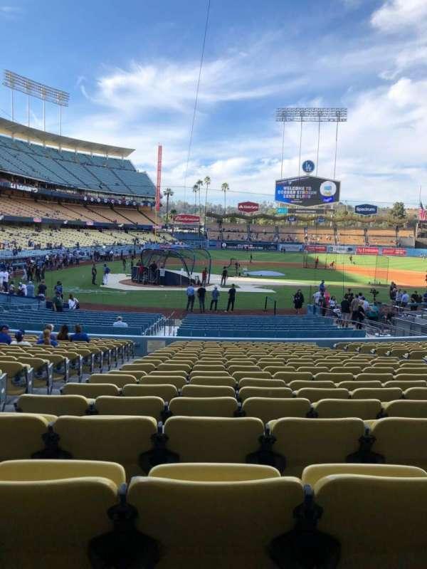 Dodger Stadium, Abschnitt: 10FD, Reihe: U, Platz: 3