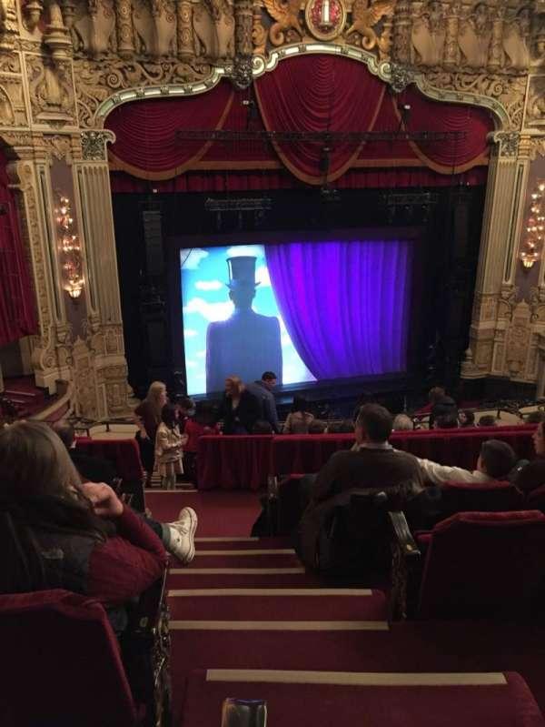 Oriental Theatre, Abschnitt: Balc-L, Reihe: K, Platz: 351