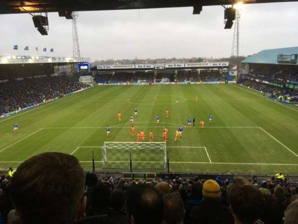 Fratton Park, Abschnitt: Fratton End, Reihe: 4th from back