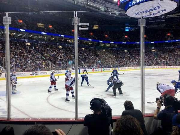 Rogers Arena, Abschnitt: 109, Reihe: 4, Platz: 104