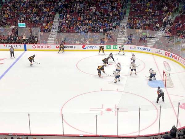 Rogers Arena, Abschnitt: 306, Reihe: 2, Platz: 1