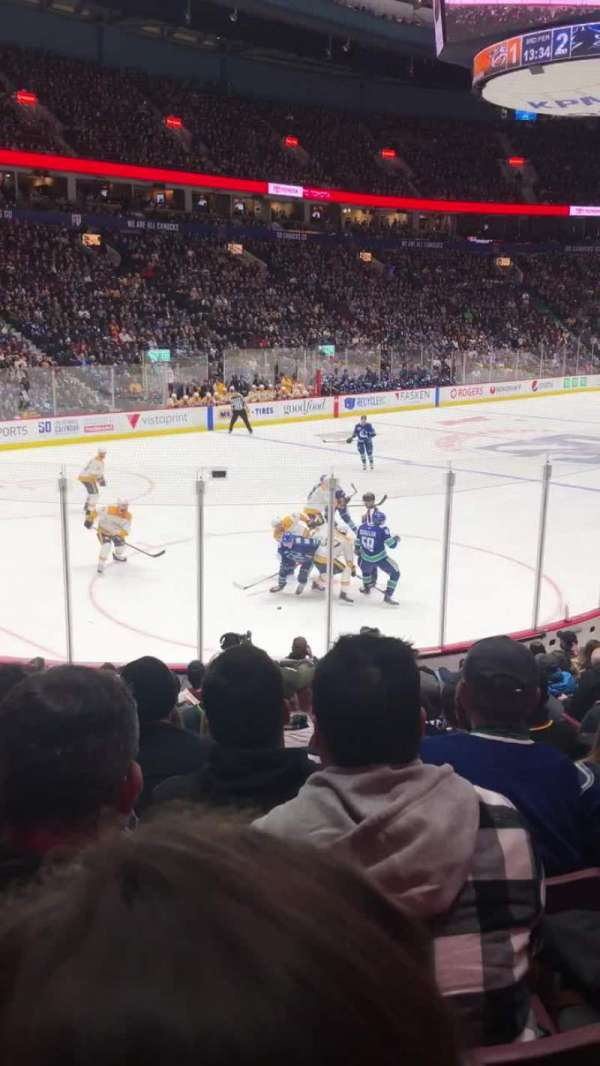 Rogers Arena, Abschnitt: 109, Reihe: 14, Platz: 105