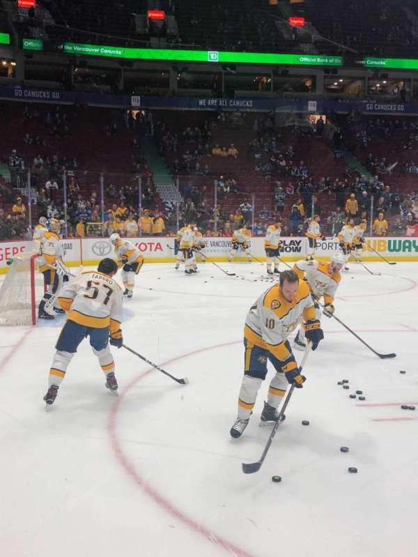 Rogers Arena, Abschnitt: 109, Reihe: 2, Platz: 2