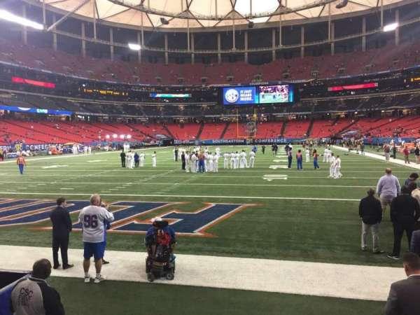 Georgia Dome, Abschnitt: 124, Reihe: 1, Platz: 5