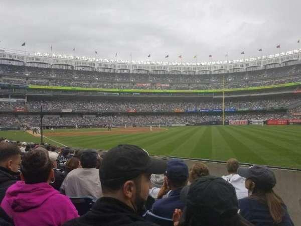 Yankee Stadium, Abschnitt: 109, Reihe: 7, Platz: 1