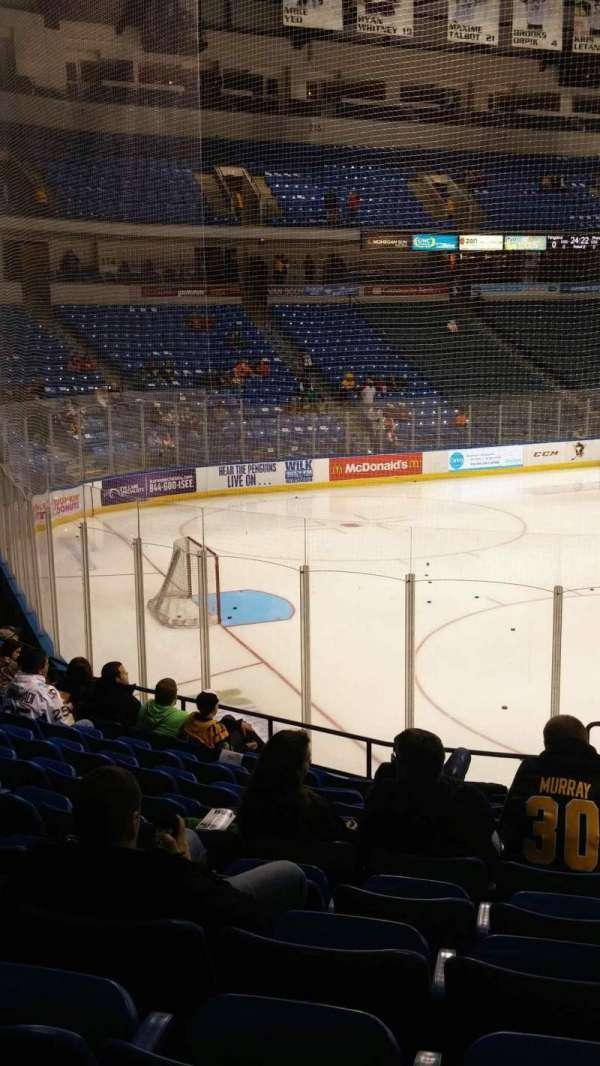 Mohegan Sun Arena at Casey Plaza, Abschnitt: 108, Reihe: M, Platz: 1