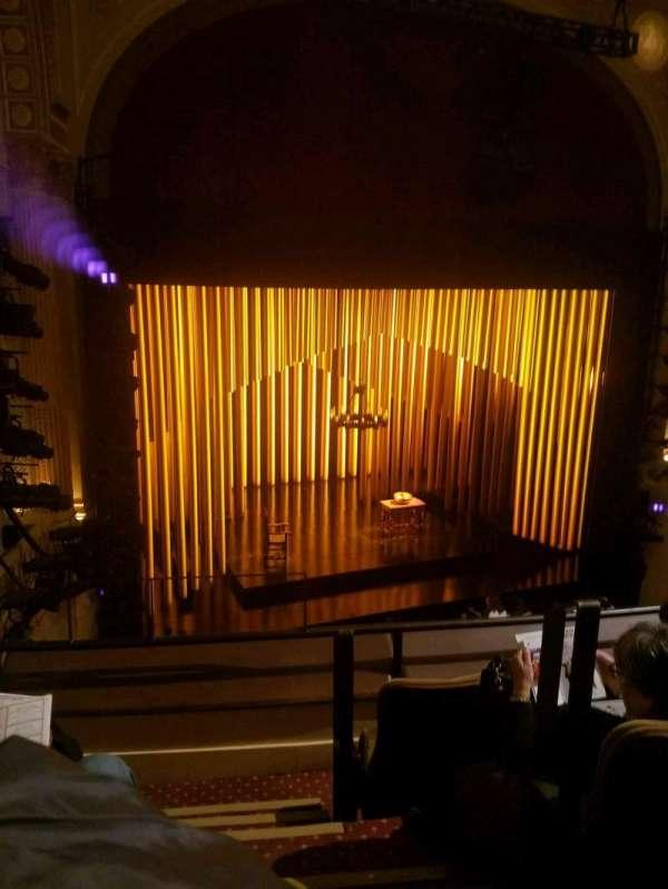 Samuel J. Friedman Theatre, Abschnitt: front mezz, Reihe: B, Platz: 1