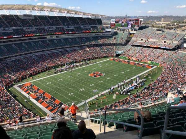 Paul Brown Stadium, Abschnitt: 347, Reihe: 24, Platz: 1