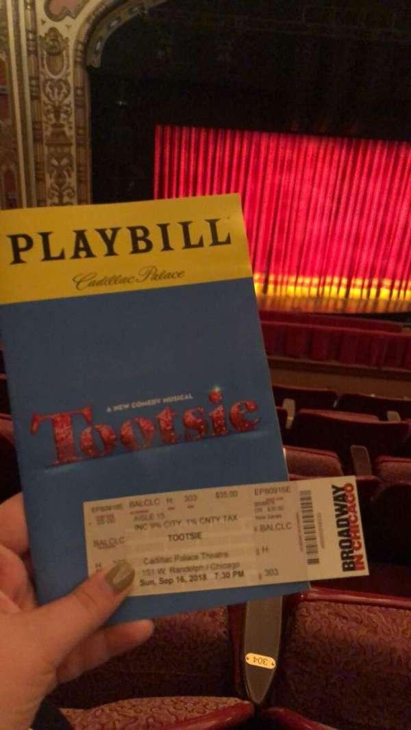 Cadillac Palace Theater, Abschnitt: CBALC, Reihe: H, Platz: 304